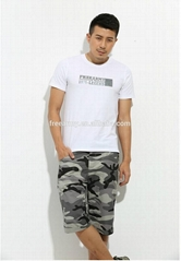 Custom military camouflage half pants for men