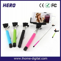 Cable take selfie pole