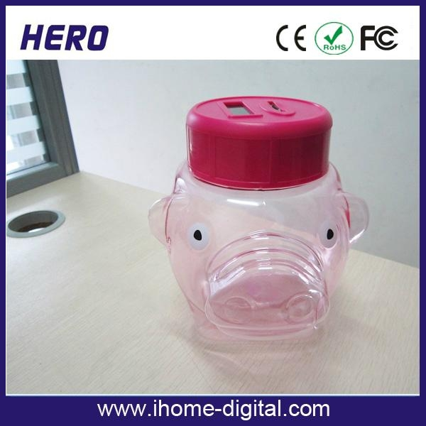 Plastic piggy bank with coin counter 5