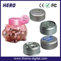 Plastic piggy bank with coin counter 3