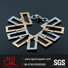 women's fashion stainless steel charms bracelet