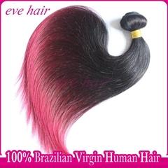 Brazilian Straight 3T1B99JBG Color 100% Unprocessed  Virgin Human Hair Extension