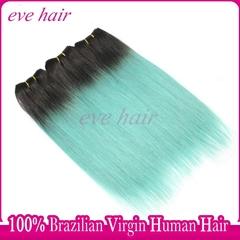 Hot Sale OTGREEN Color Brazilian Straight 100% Virgin Human Hair Extension