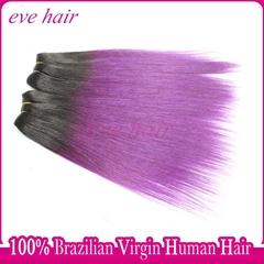 Purple Hair Silky Straight 100% Unprocessed Virgin Human Hair Extension