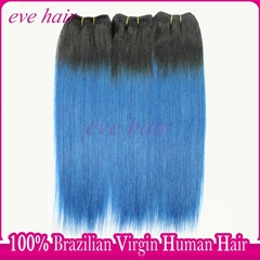 New Arrival OTBlue Hair Brazilian Straight Virgin Human Hair Weave