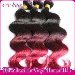 Brazilian Body Wave 3T1B99JBG 100% Virgin Human Hair Extension
