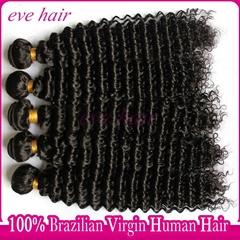 Brazilian Deep Wave 100% Virgin Human Hair Extension