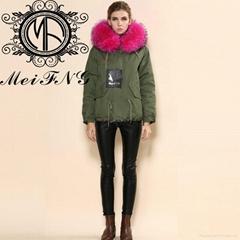 Urban Faux Fur Trim Parka in winter for women