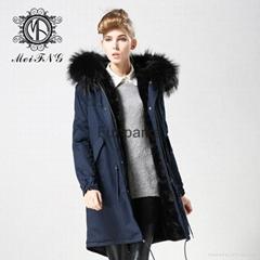 Newest Design Parka Jacket, Fur Coat From Guangzhou Factory