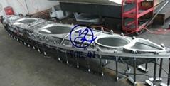 aluminum rotational molded kayak mold
