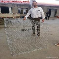 discount 30% 80x100 mm high zinc coating rock gabion basket wire mesh