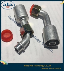 #6 #8 #10 #12Al joint with Al jacket Auto A/C Headlock fitting Female O-Ring