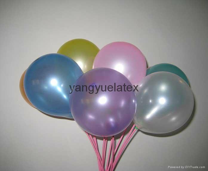 10 inch 2.2g beautiful pearl Round yellow balloon 1