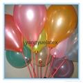 10 inch 2.2g beautiful pearl Round yellow balloon 2