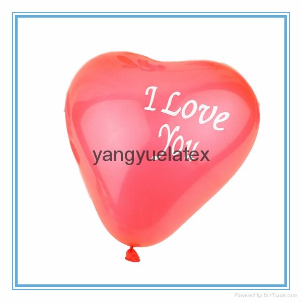 Wedding party balloons Heart balloons 1
