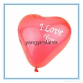 Wedding party balloons Heart balloons