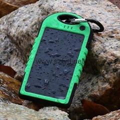 Waterproof solar charger power bank 5000MAH