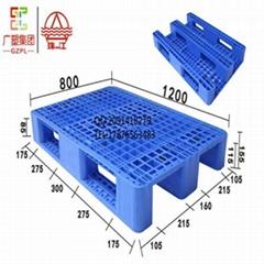 带钢管网格川字1208环保塑料托盘