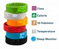 Multi-function USB LED 3D Smart WristBand Watch Time Calorie 3D Pedometer 3