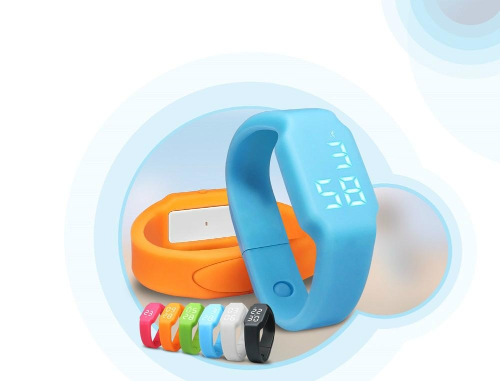 Fashional Smart Silicon Wrist Bracelet with Calorie Counter, 3D Pedometer, Sleep 4