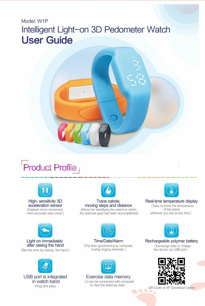 Fashional Smart Silicon Wrist Bracelet with Calorie Counter, 3D Pedometer, Sleep 5