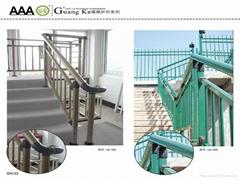 广州锌钢铁艺楼梯护栏