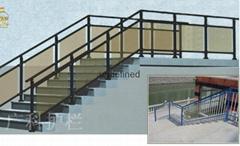海南广科锌钢楼梯护栏
