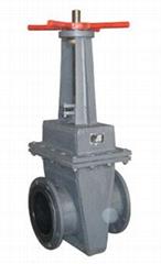 手动衬胶双面密封闸板阀Z42J优惠出售