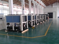 Air cooled double scroll chiller