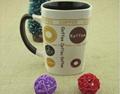 Fashionable ceramic mug with ceramic