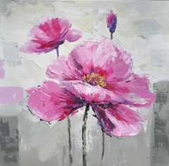 modern home decorative floral oil painting picture on canvas
