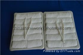 white cotton thin cheap disposable towels 1