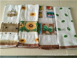Wholesale 100% Cotton kitchen tea towel 2