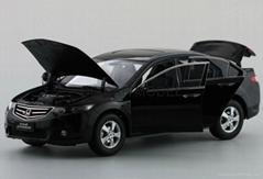 Diecast Model Car  for 1:18 Honda Spirior Euro Accord 2009 Black Wholesaling
