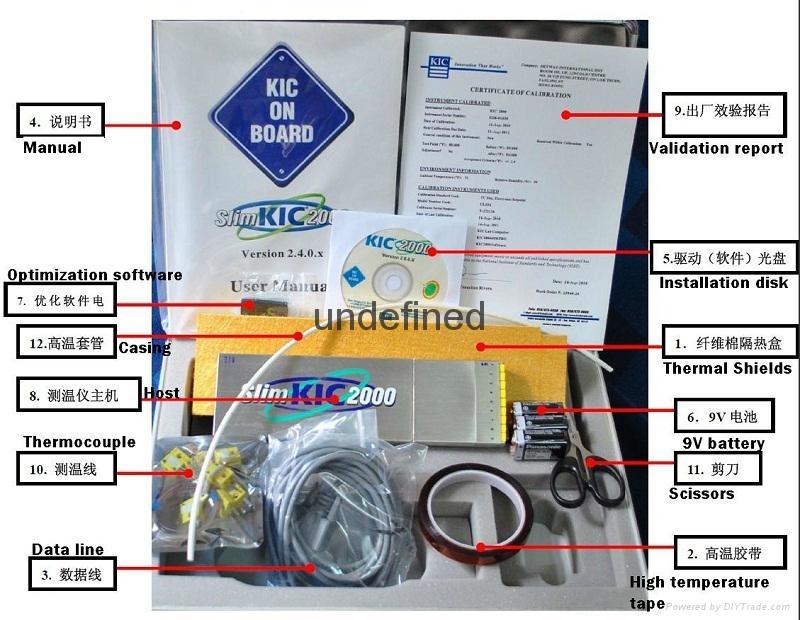 KIC Slim2000 爐溫測試儀9和12通道溫度記錄儀 4