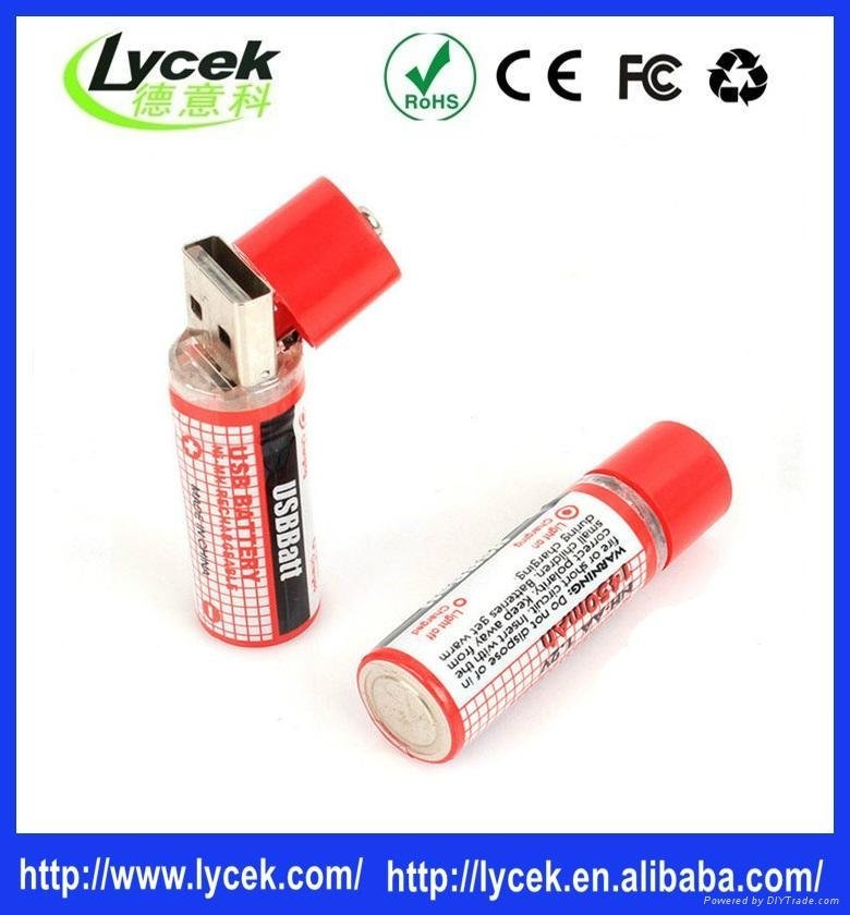Rechargeable batteries USB port charger battery 1.2v 1450mah 3