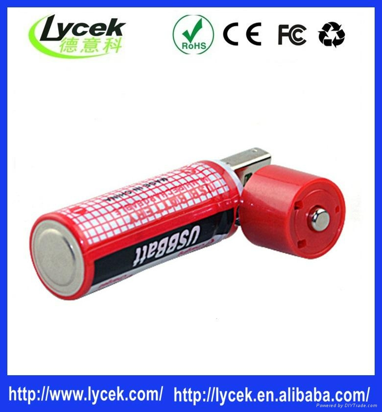 Rechargeable batteries USB port charger battery 1.2v 1450mah 1