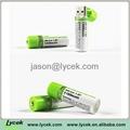 1.2V Mini USB rechargeable battery 2