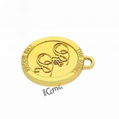 Custom gold 18K embossed designer custom clothing label cheap price