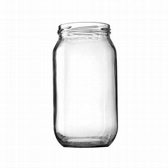 1000ml Food Clear Glass Jar Wide Mouth