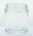 4 oz. Flint Glass Straight Sided Jar