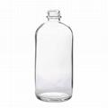 16oz clear boston round glass bottle BBQ