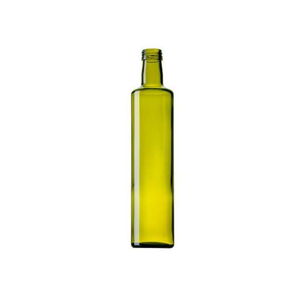 250ml circle olive oil glass bottle dark green 1
