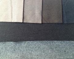 CVC ponte roma kniting fabric 4 way stretch with brush
