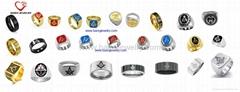 custom design stainless steel masonic ring jewelry