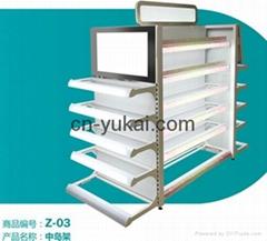 Supermarket Gondola Display Shelf With Light Box