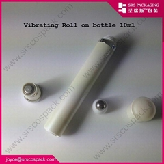 SRS white color electronic vibrating 10ml roll on bottle for eye massage