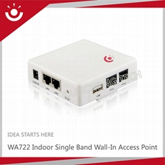 WA722 Indoor Wall-In Atheros Wireless AP router For Hotel