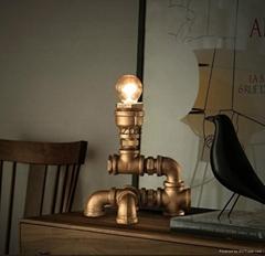 loft 復古個性創意水管臺燈