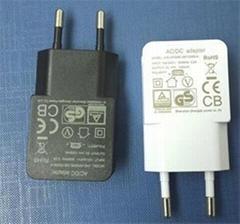 欧规5V1A1.2A USB电源适配器USB充电器JHD-AP006E-050100BB-A
